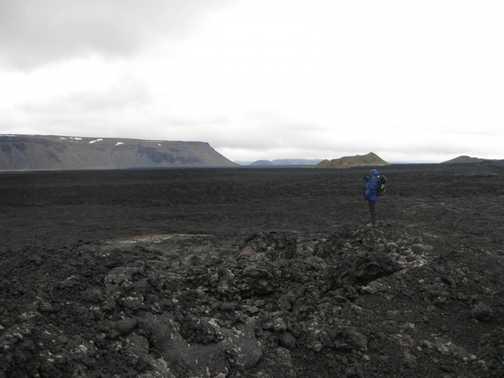 Moonscape lava flows