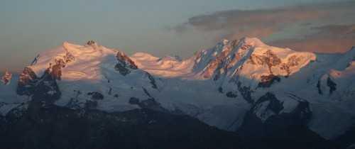 Monta Rosa at sunset