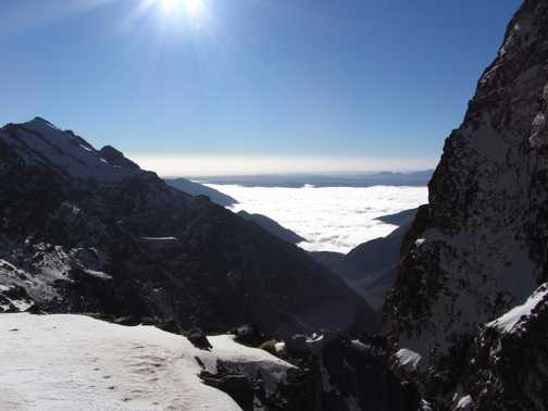 Looking towards Lac d'Ifni from Tizi-n-Ouanoums 3664m