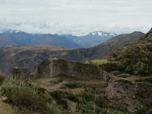 Inca ruin on the trail