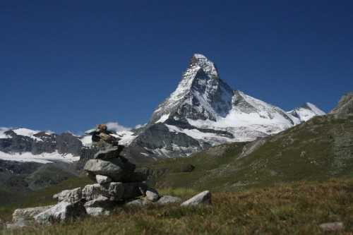 The first real sight of the Matterhorn