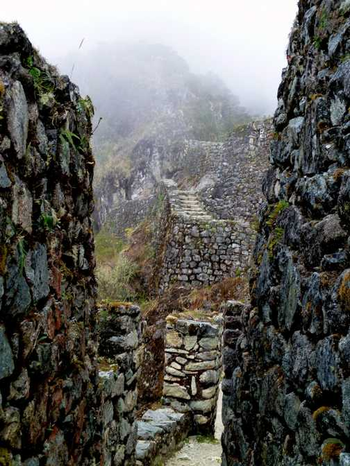 Inca ruins along the way.