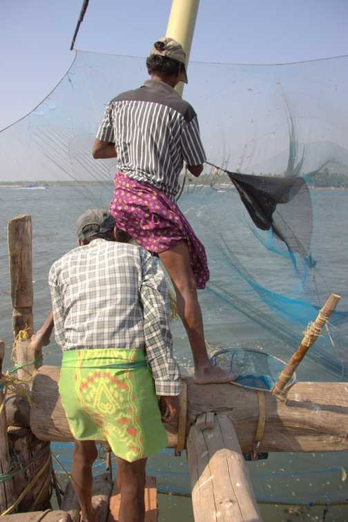 Chinese fishing nets Fort Cochi