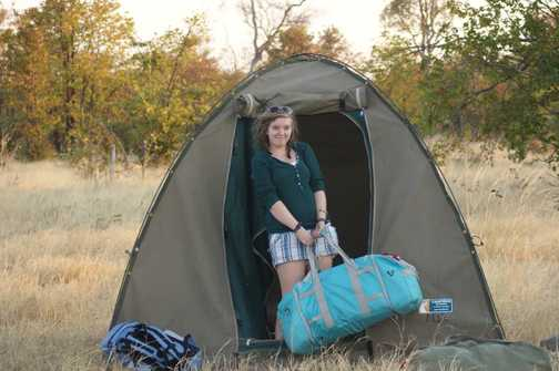 setting up camp Savuti
