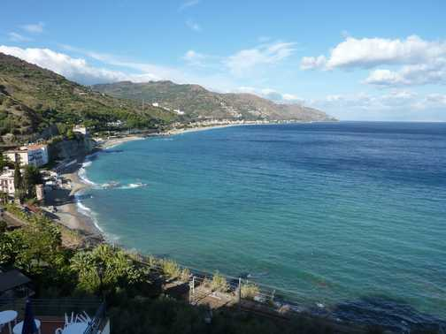 View of Taormina Bay
