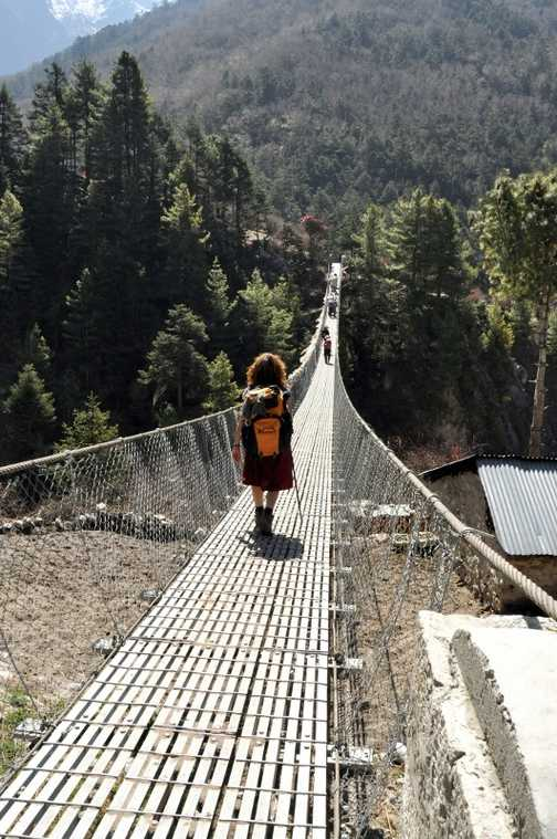 Suspension bridge - one of many !