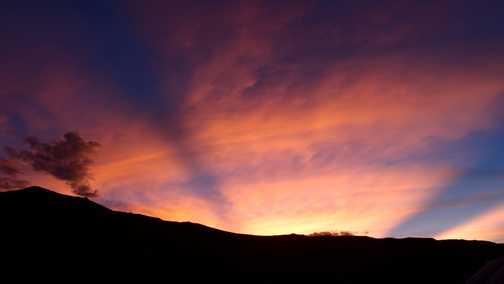 Sunset over Tso Kar