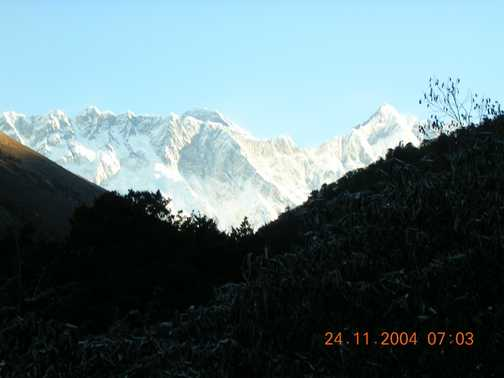 Early morning view of Everest