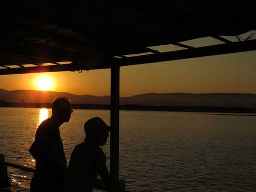Sunset cruise on the Irrawaddy