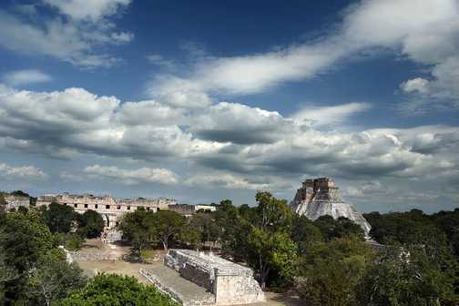 Uxmal from the top of the temple