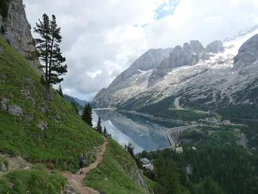 Reservoir below Marmolada