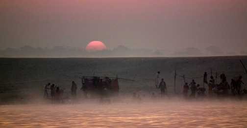 sunrise on ganges