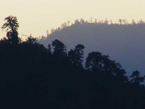 sunset from my bedroom widow, lukla 1