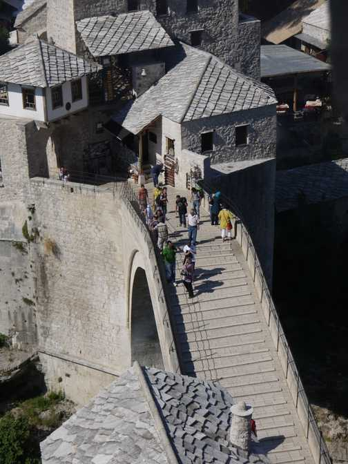 The Old Bridge in Mostar by a completely different angle.