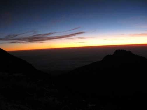 Sunrise (nearly at Stella Point)
