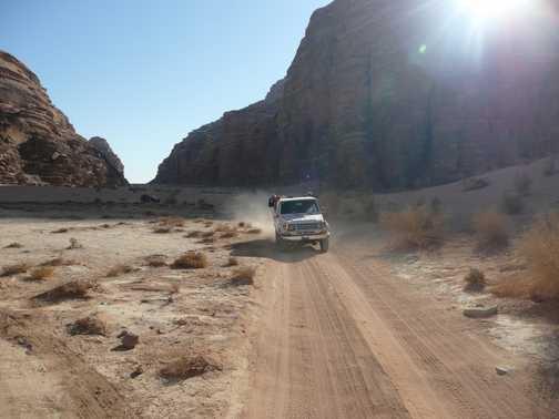 Jeep safari through Wadi Rum