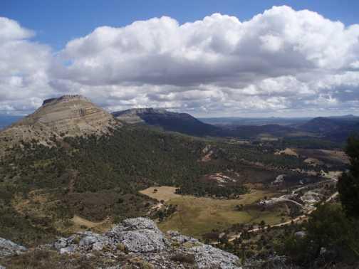 View towards San Carlos from Tenadas de Valcarcel