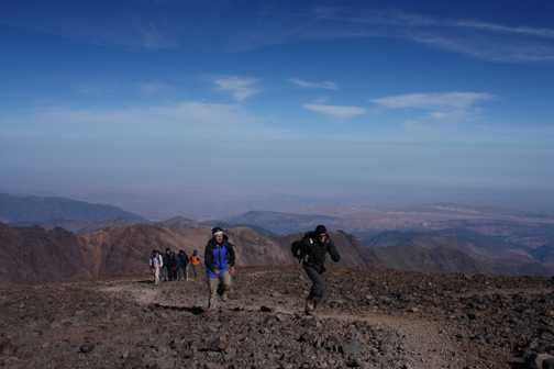sprint to the summit of Toubkal
