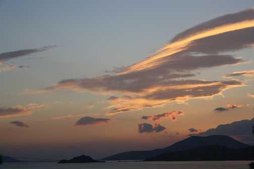 After sunset at Lake Bafa