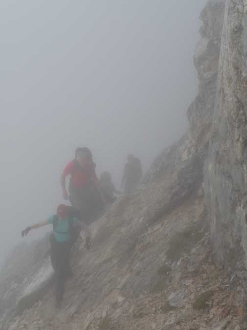 Day 4 - Jo and Brian emerge through the low cloud