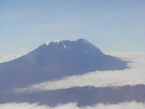 Kili from the plane