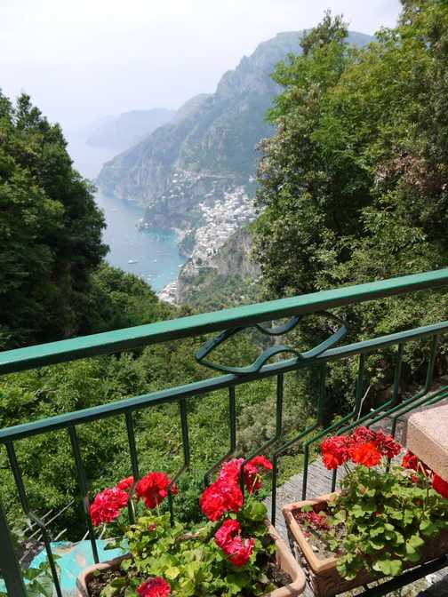 View of Positano from Nocello