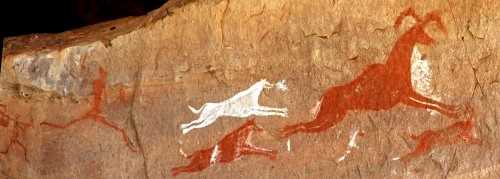 Cave Paintings Acacus Mountains