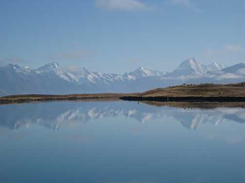 Mirror images of Mt Cook