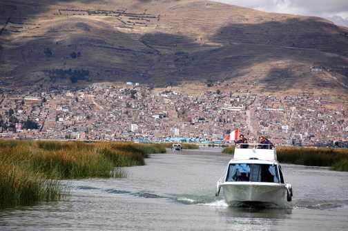 Lake Titicaca - boat to Amantani