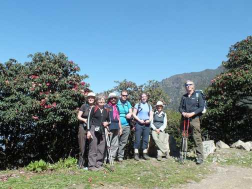 Group on the trek