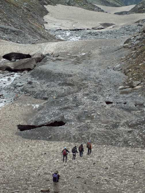 Remains of glacier in Kangra Valley