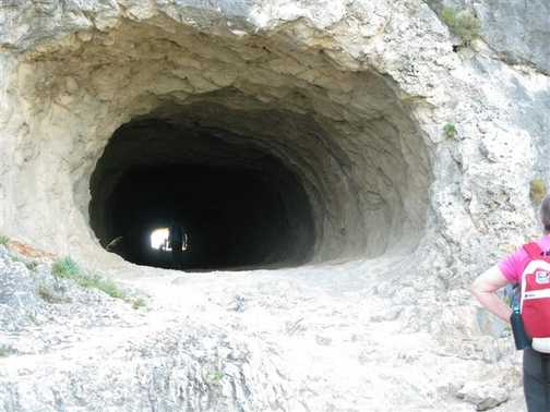 Tunnel thru the mountain