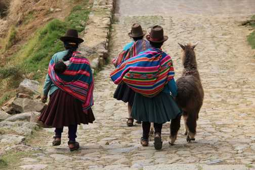 Peruvian women with Alpaca and baby!