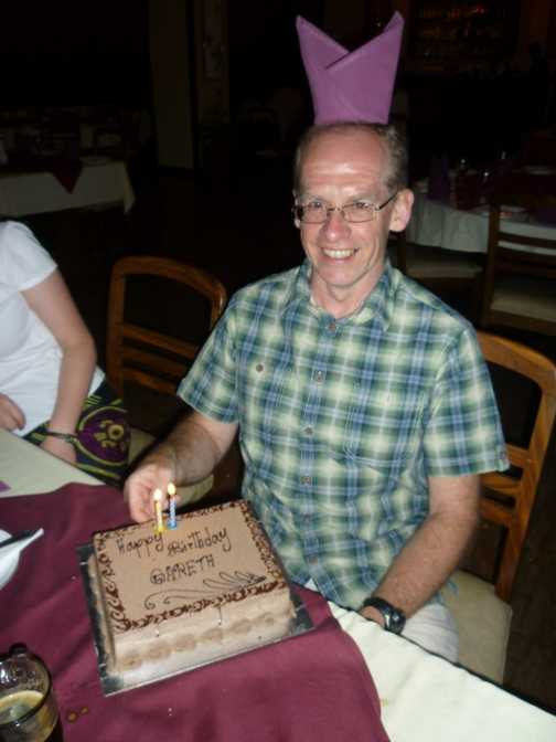 Gareth's birthday