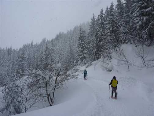 Walking to the Sonnenalm
