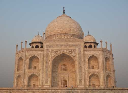 Natural framing of the Taj Mahal