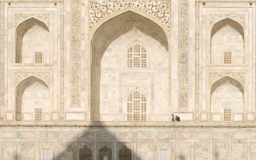 Taj Mahal in the early morning