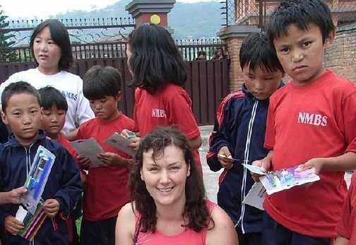 Tibetan orphans in Nepali camp-© Iris von Brandstatter