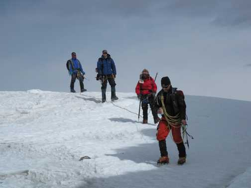 10/4 summit group returning to High Camp