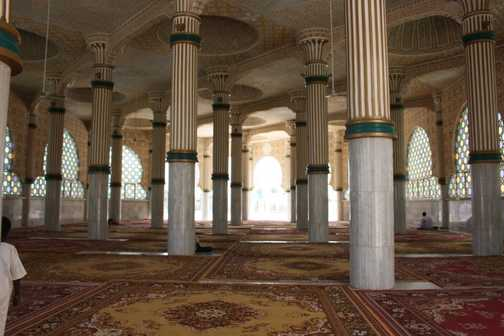 Prayer room at Touba mosque