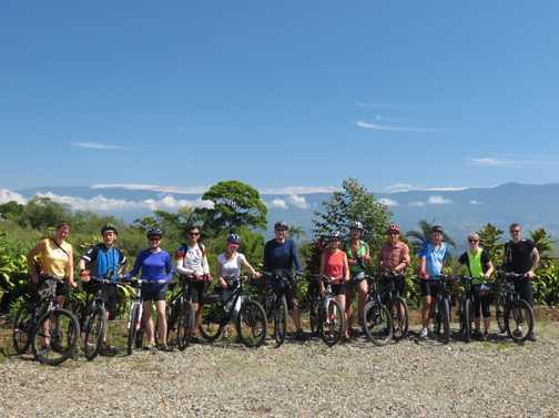 Cycle group shot - highlands