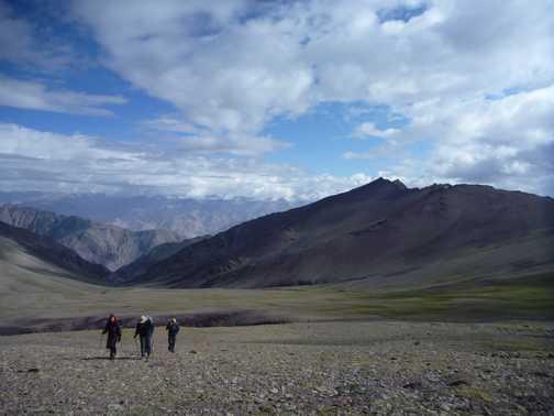 Walking away from Exodus Peak