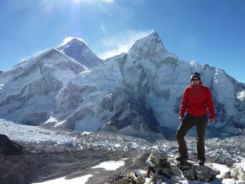 on the summit of Kala Pathar