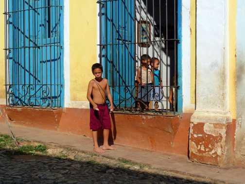 Children playing, Trinidad