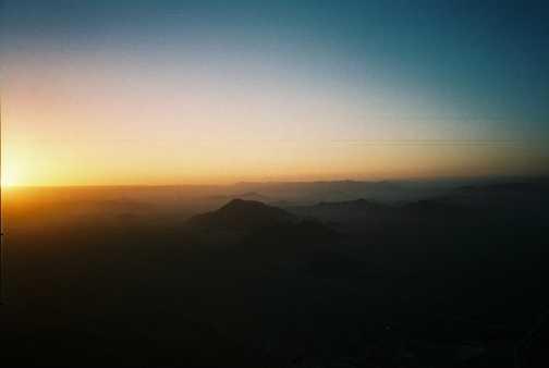 Sunrise over dunes