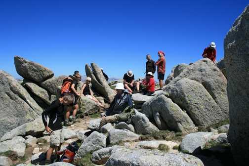 The summit of Monte Renosu