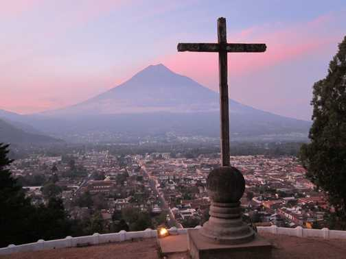 Sunrise over La Antigua, Guatemala
