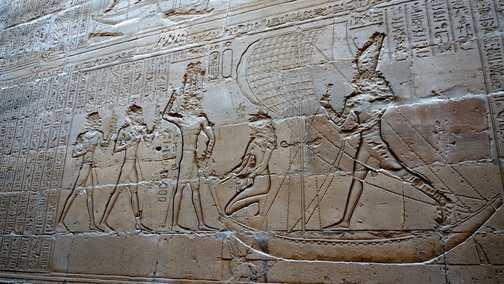 Egyptian temple art