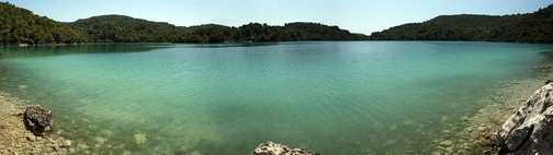 The smaller salt lake on Mljet