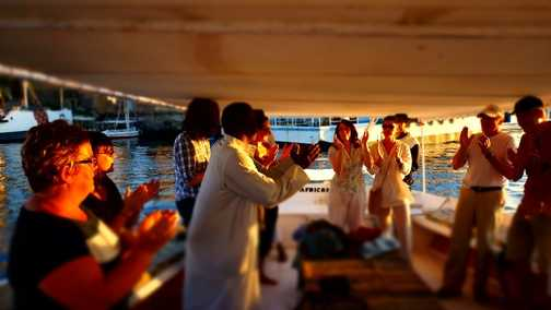 Entertainment on the Felucca